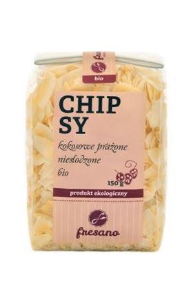 Obrazek Fresano   Chipsy kokosowe prażone niesłodzone BIO 150 g