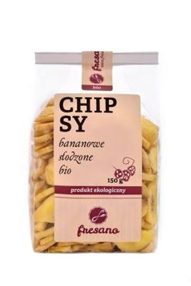 Obrazek Fresano   Chipsy bananowe słodzone BIO 150 g