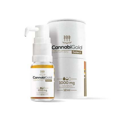 Obrazek HemPoland   CANNABI GOLD Select 1000mg 12ml - olej konopny