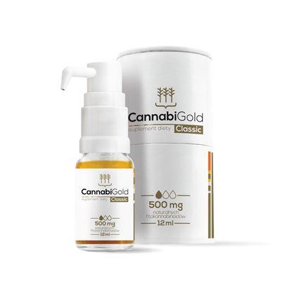 Obrazek HemPoland   CANNABI GOLD Classic 500mg 12ml - olej konopny