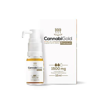 Obrazek HemPoland   CANNABI GOLD Premium 1500mg 12ml - olej konopny
