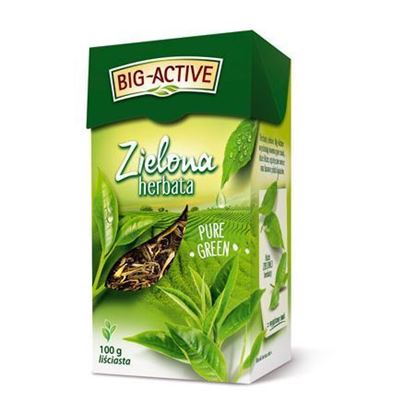 Obrazek Big-Active | HERBATA ZIELONA Pure Green Liść 100g
