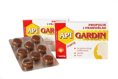 Obrazek Bartpol   API GARDIN FORTE Propolis i prawoślaz o smaku wiśniowym 16 pastylek do ssania
